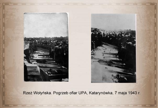 Rzeż Wołyńska. Pogrzeb ofiar UPA, Katarynówka, 7 maja 1943 r.